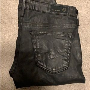 AG leather coated jeans
